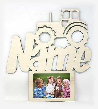 2e7cb74915 Traktor Wand Bilderrahmen Geschenke für das Kinderzimmer mit Namen für Junge  Mädchen Jungs 10 x 15