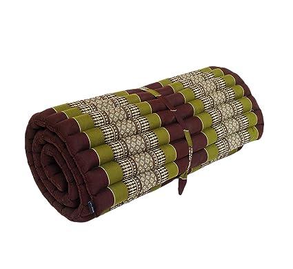 Esterilla tradicional tailandesa enrollable de ceiba, para masajes, yoga o relajación: Amazon.es: Hogar