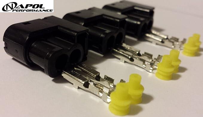 Toyota Supra Lexus GS300 IS300 Bobina de encendido Conector Clips 1JZ 2jz MKIV - VVTi - Arnés de bobina Plugs - 2jz-gte 2jz-ge SC300 chaser- (3 unidades): ...