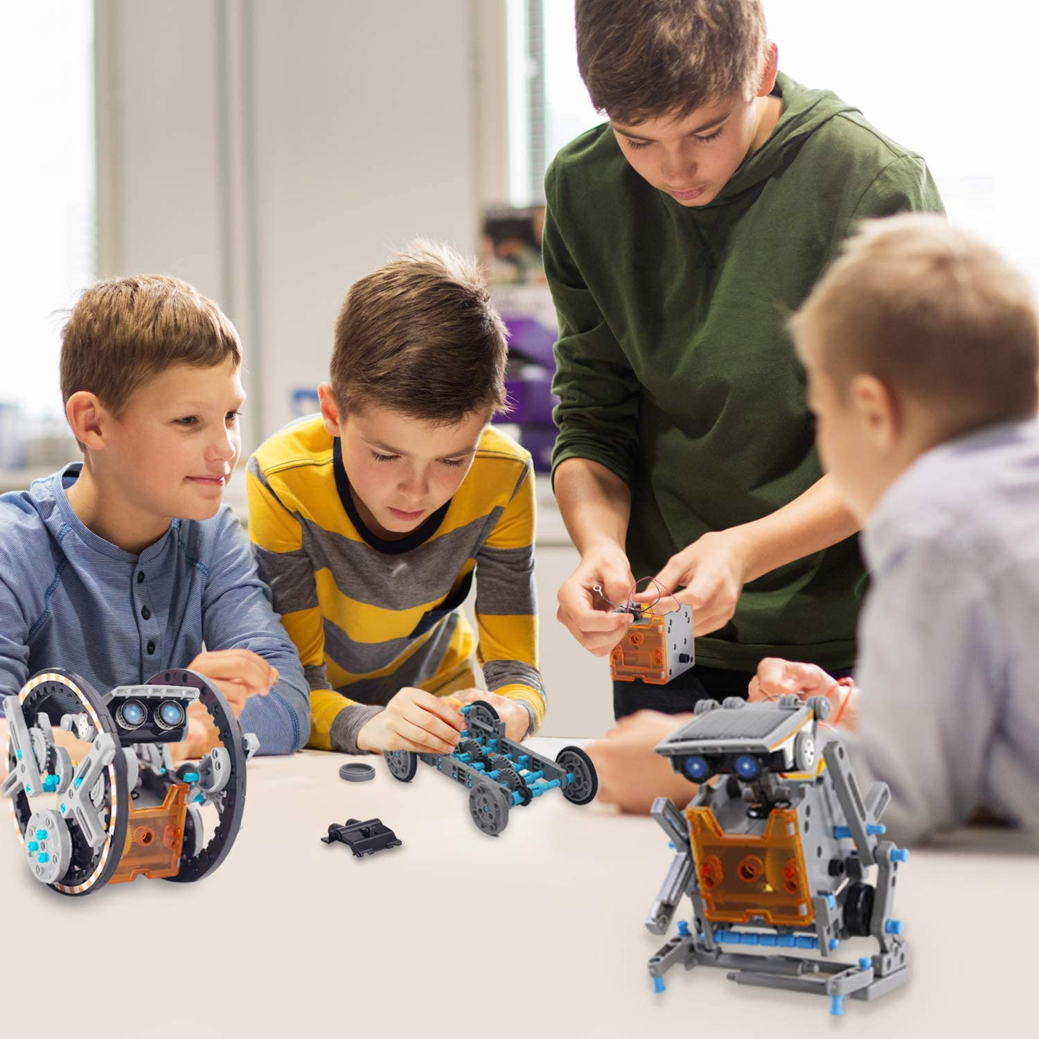 Year Old Boys Creative Activity-Powered by The Sun BOZTX 12-in-1 STEM Education DIY Solar Robot Toys Building Science Kits for Kids 10-12 Years Old Boys Great Birthday for 8 9 10 11 12