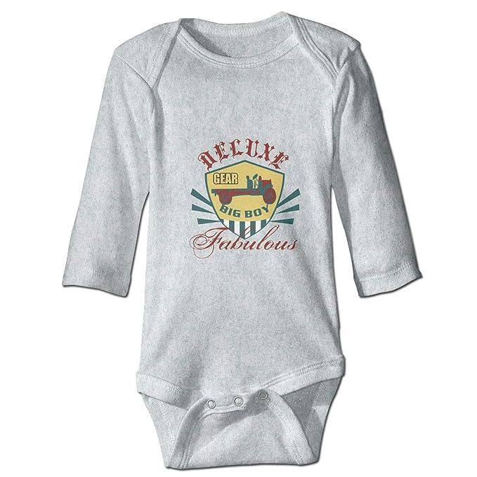 Dfenere DECUXE Graphic Newborn Baby Short Sleeve Bodysuit Romper Infant Summer Clothing