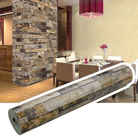 3D brique de pierre Papier peint, bricolage papier peint Wall ...