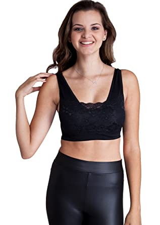 89357012bee6c Clothes Effect Black Lace Bralette Top  Amazon.co.uk  Clothing