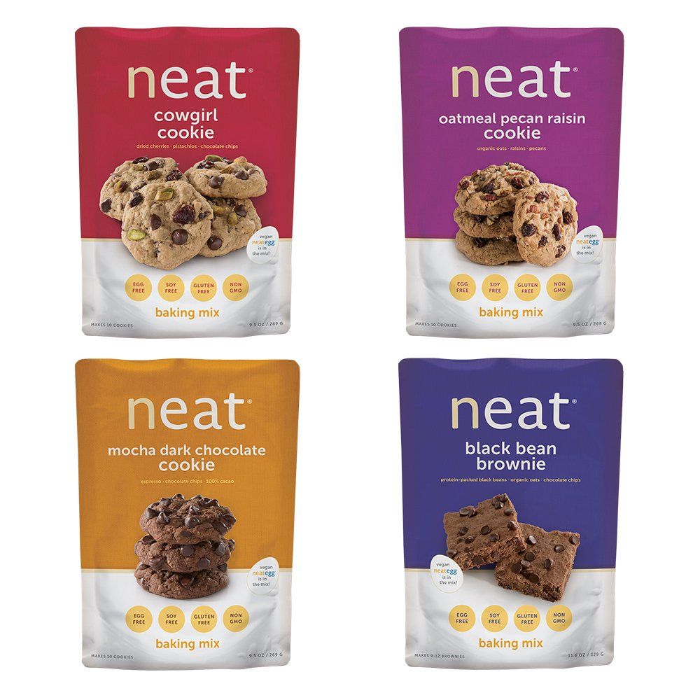 Neat Vegan - Cookie Baking Mix Variety Pack (2.95 lb) - Non-GMO, Gluten-Free, Soy Free, Baking Mixes