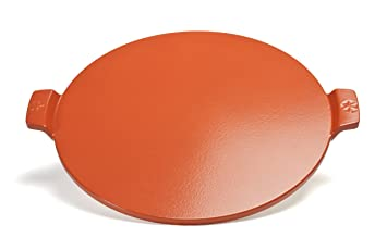 "Pizzacraft 14.5"" Round Glazed Pizza Grilling Stone with Handles - PC0109 ..."