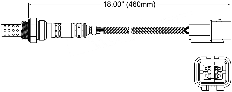 ACDelco 213-3890 Professional Heated Oxygen Sensor 213-3890-ACD
