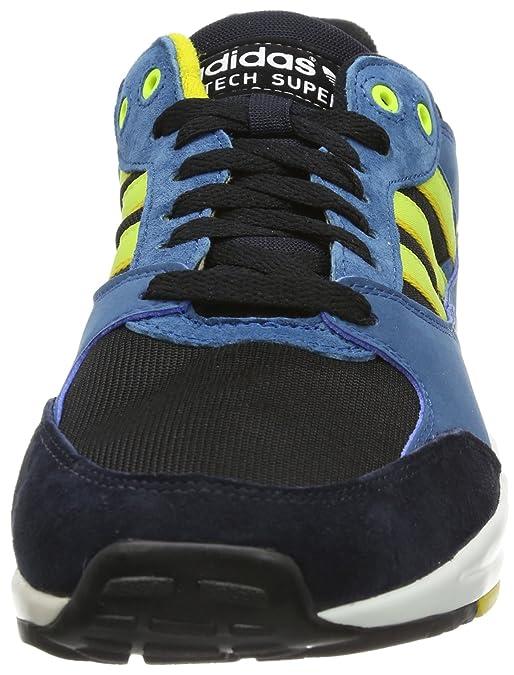 uk availability 666d1 32b4e adidas Originals Mens Tech Super-1 Trainers D67642 Black Electricity Legend  Ink 8.5 UK, 42.5 EU  Amazon.co.uk  Shoes   Bags