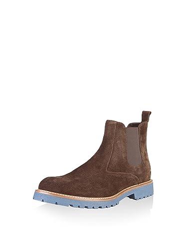 Made in Italia Shoes, Zapatos de Cordones Derby para Hombre, Pardo, 44 EU
