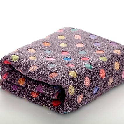 dididd servilleta baño multicolor (algodón polkaot/toalla adulato de aumento de peso/toalla
