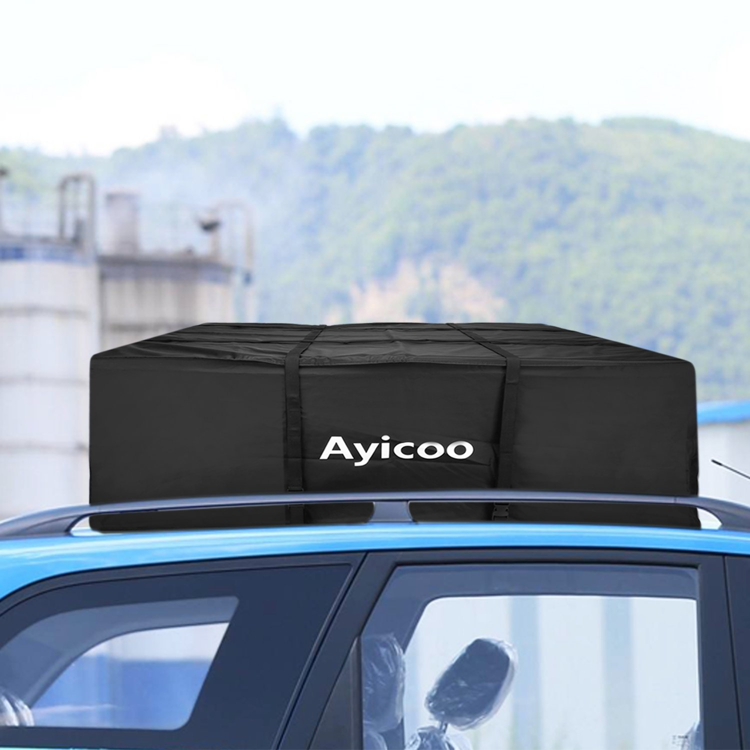 Ayicoo Upgrade Waterproof Car Rooftop Cargo Carrier Bag for SUV Jeep Truck Extra Large 21 Cubic Feet