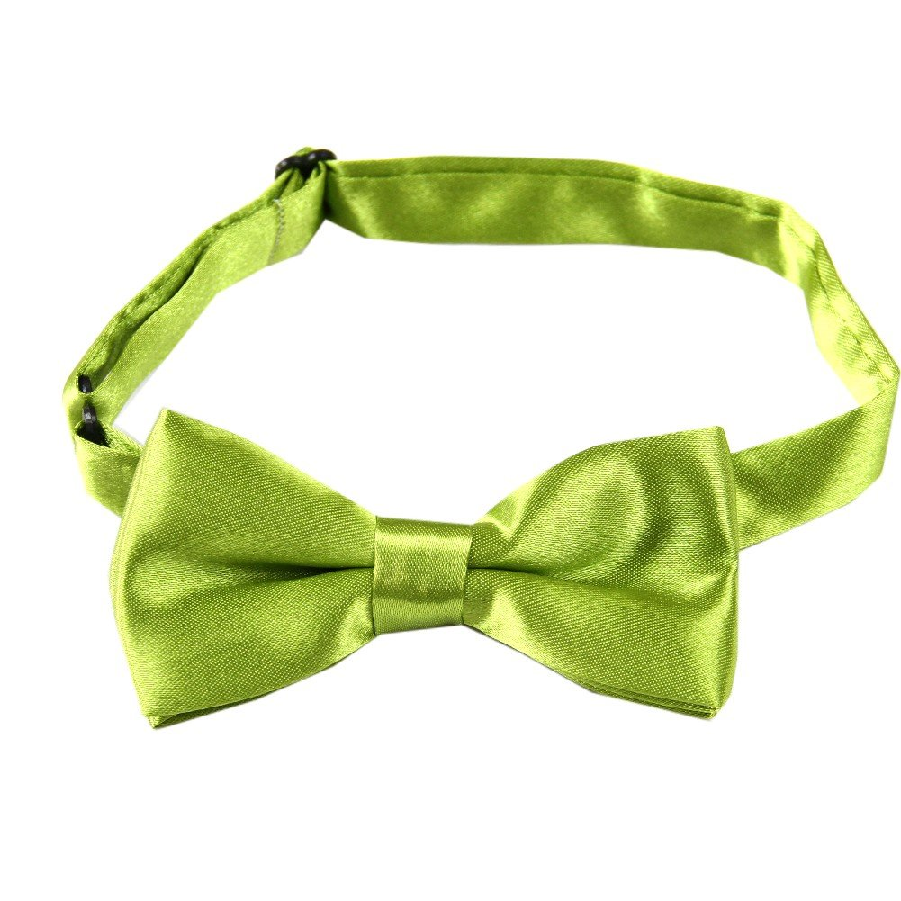 Enwis kids Bow Tie Pre Tied Wedding Party Solid Olivedrab