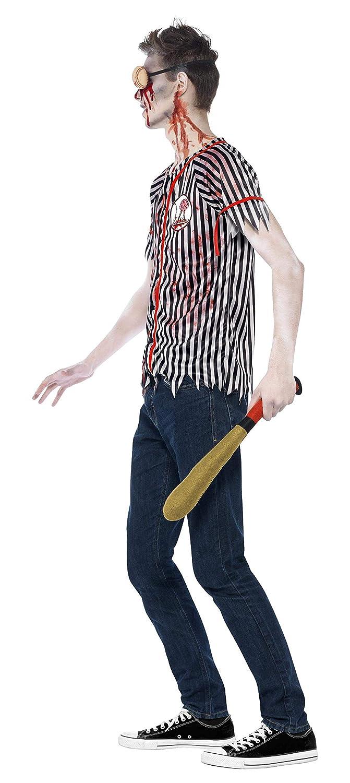 ac2b72b0c Smiffy's - Disfraz de Zombi del Jugador de béisbol, Color Negro ...