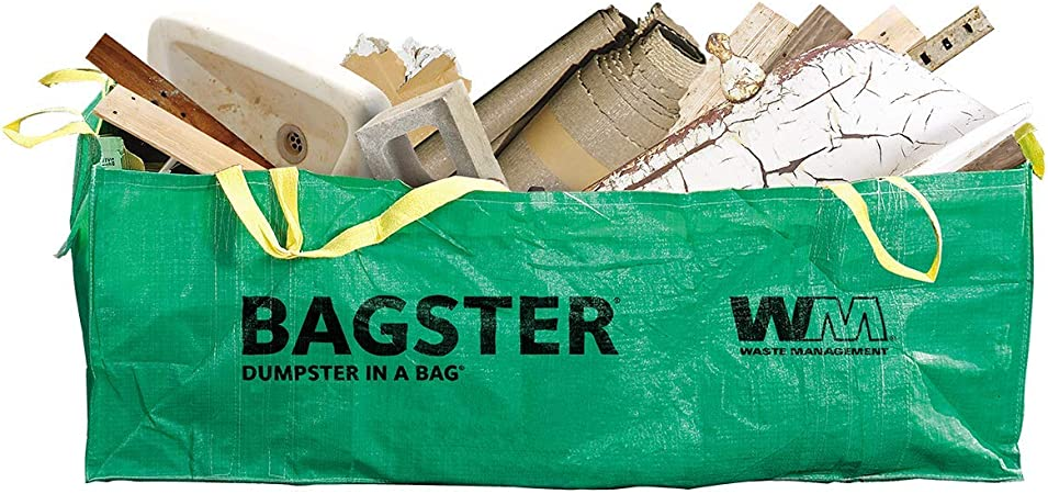 Amazon Com Bagster 3cuyd Dumpster In A Bag Holds Up To 3 300 Lb Green Home Improvement