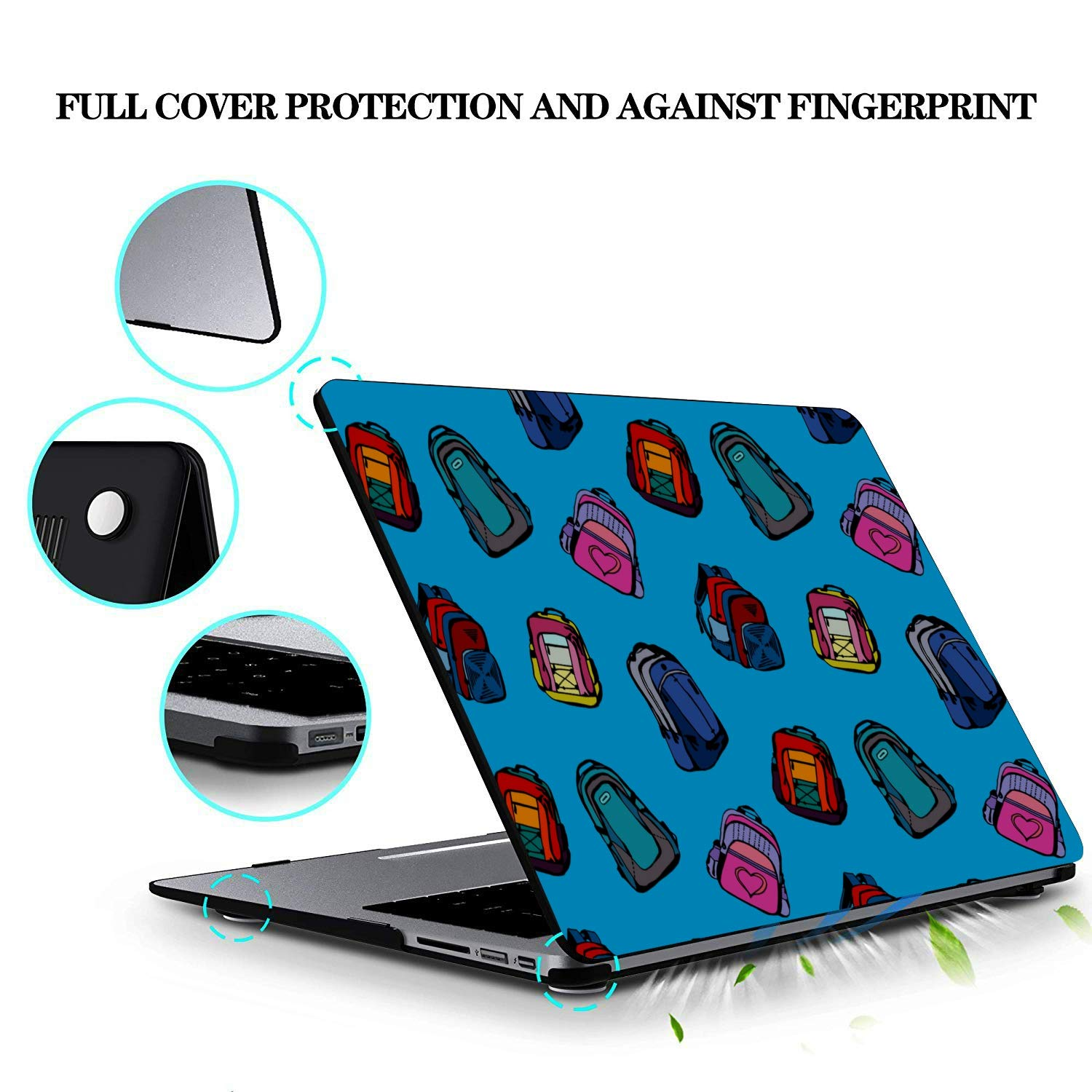MacBook Pro Computer Case School Bag Children Backpack Ideas Plastic Hard Shell Compatible Mac Air 11 Pro 13 15 13 Inch Laptop Case Protection for MacBook 2016-2019 Version