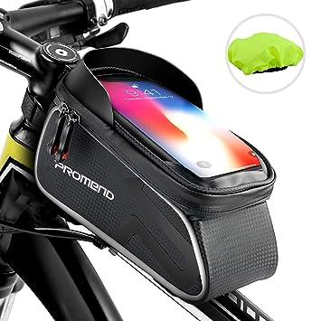 262b479bd2f shenkey Bolso Bicicleta, Bolso del Marco de la Bici Bolso Impermeable del  teléfono de la Bici ...