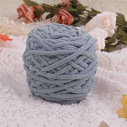 Color gris oscuro DIY bufanda suéter toalla gruesa de lana de tejer 95 g 7 mm de diámetro: Amazon.es: Hogar