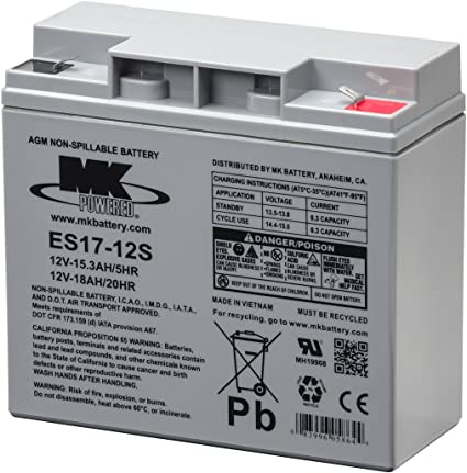 MK Battery ES3-12 Maintenance-Free Rechargeable Sealed Lead-Acid Battery