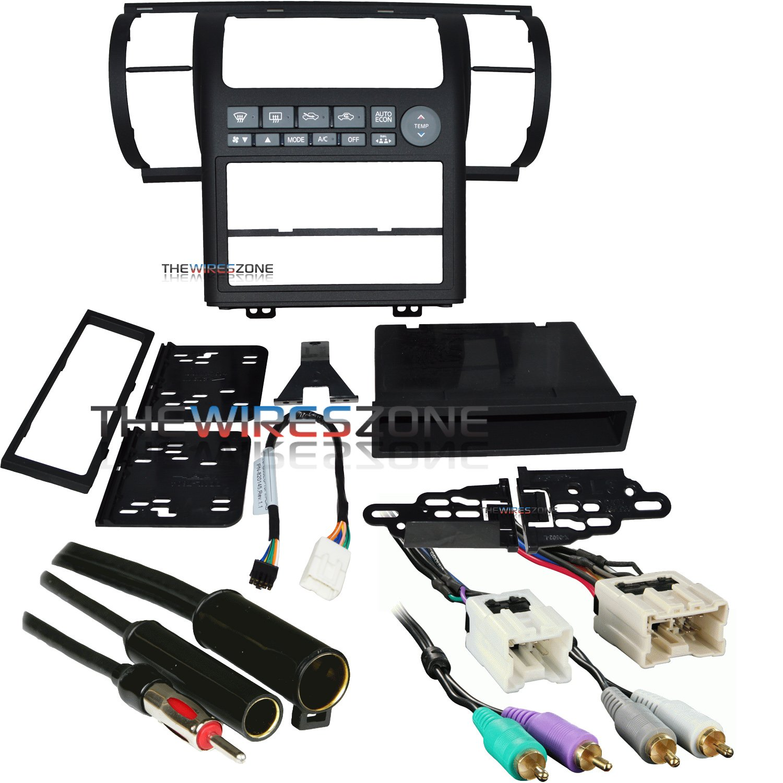 Metra 99-7604B Black Dash Kit for 03-04 Infiniti G35 + Harness + Antenna Adapter