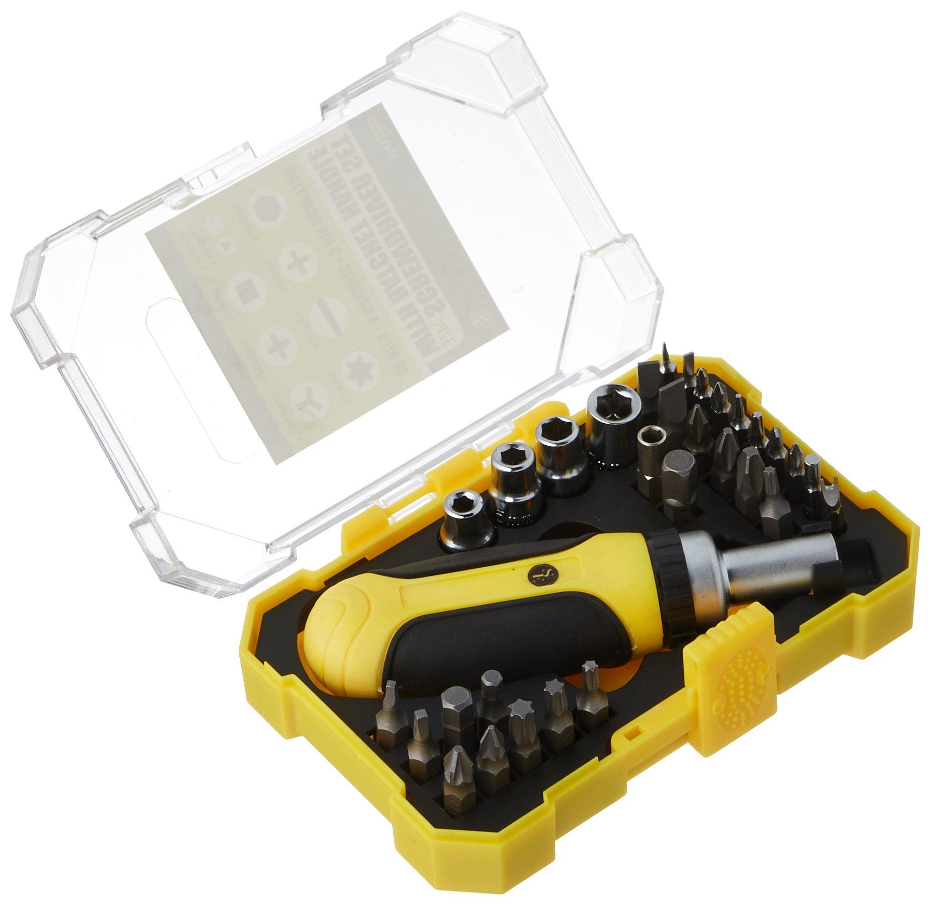 SE 754132SD Set de destornilladores con mango de trinquet...