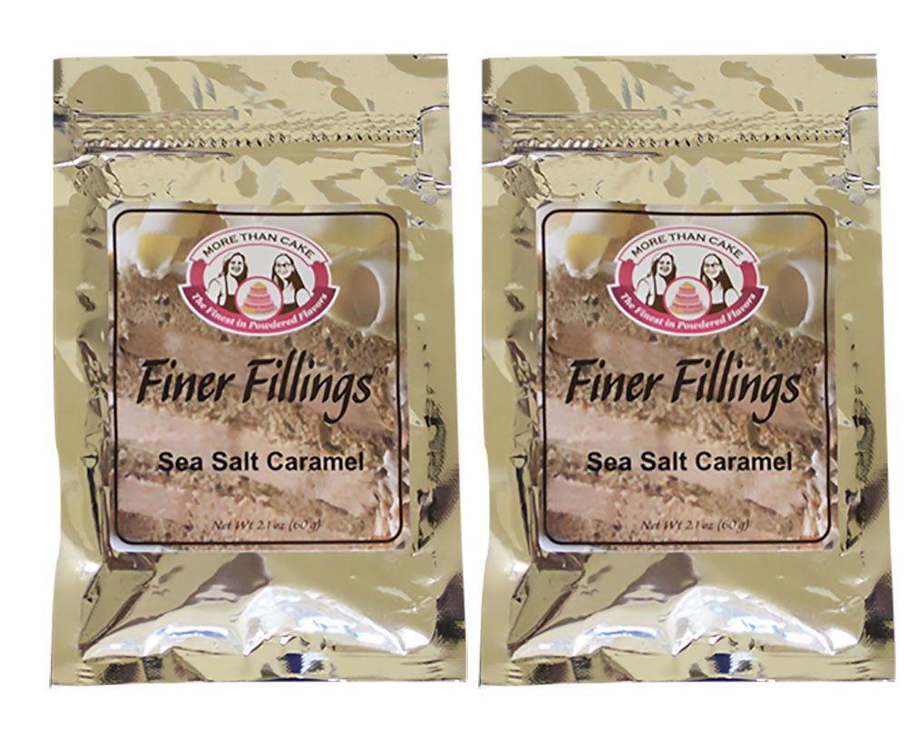 Sea Salt Caramel Finer Fillings 60g Dessert Mix by More Than Cake, 2 Pack by More Than Cake (Image #1)