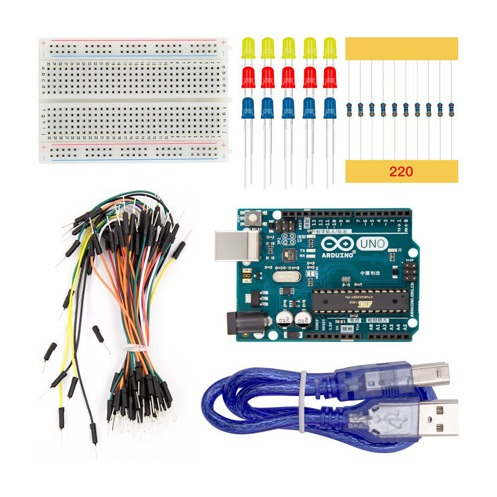 New Basic Starter Kit UNO R3 Breadboard LED Jumper Wire Cable for Arduino