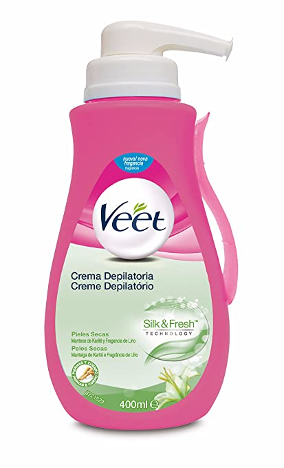 Veet Crema Depilatoria - con dosificador, Piel Normal y Seca, 400ml: Amazon.es: Amazon Pantry