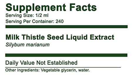Milk Thistle Seed Concentrated Alcohol-Free Liquid Extract 4 fl oz-240 doses. Greenbush 100 Natural Bio-Chelated* to Support Liver Function. Free Shipping