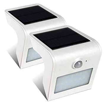 greensun LED Lighting 3 modos Solar lámpara LED Solar Leuchten con detector de movimiento 24 37 46 ledes Agua ...