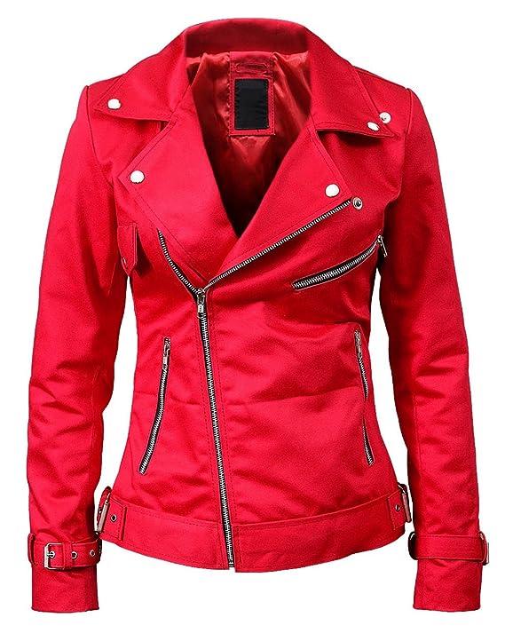 LP-FACON Womens Biker Snake Logo Serpents Slim Fit Motorcycle Leather Jacket at Amazon Womens Coats Shop