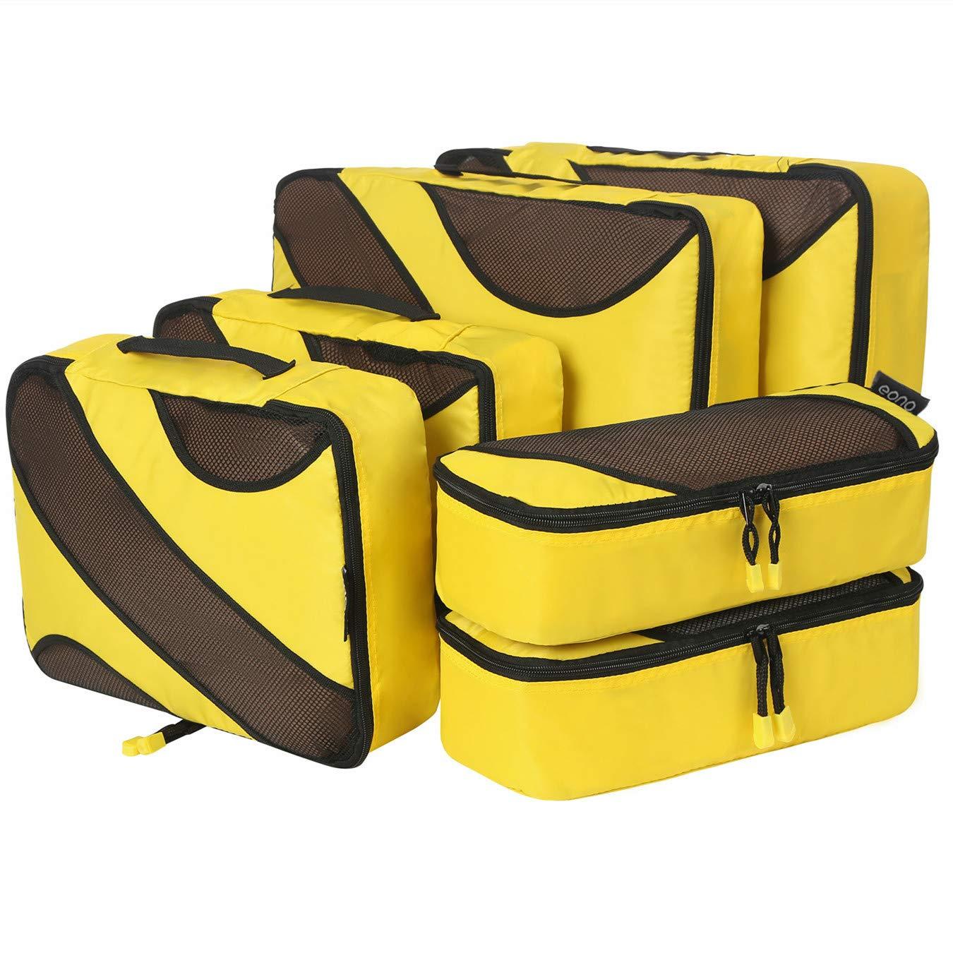 640b4c07f5 Amazon Brand: Eono Essentials 6 Set cubes d'emballage, 3 différentes  tailles Organisateurs