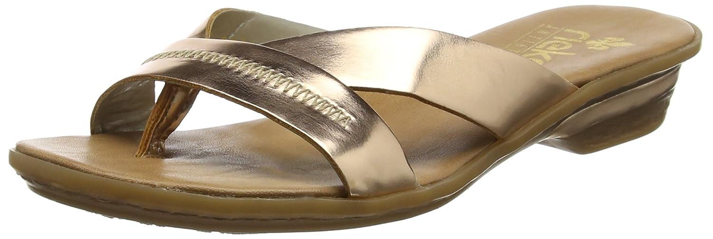 Rieker Damen 63468 Zehentrenner  36 EU|Gold (Bronze)
