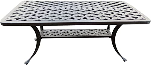 iPatio Sparta 21x 42 inch Standard Outdoor Modern Style Coffee Table Chocolate Matte