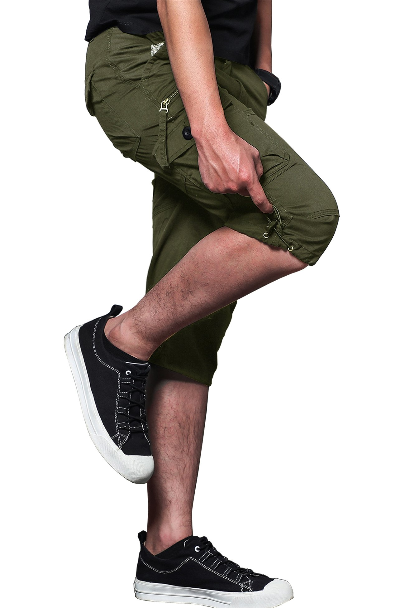 MAKEIIT Men's Juniors Cargo Shorts XXXL Cargo Shorts Dri Fit Cargo Shorts with Multi-Pocket by MAKEIIT (Image #2)