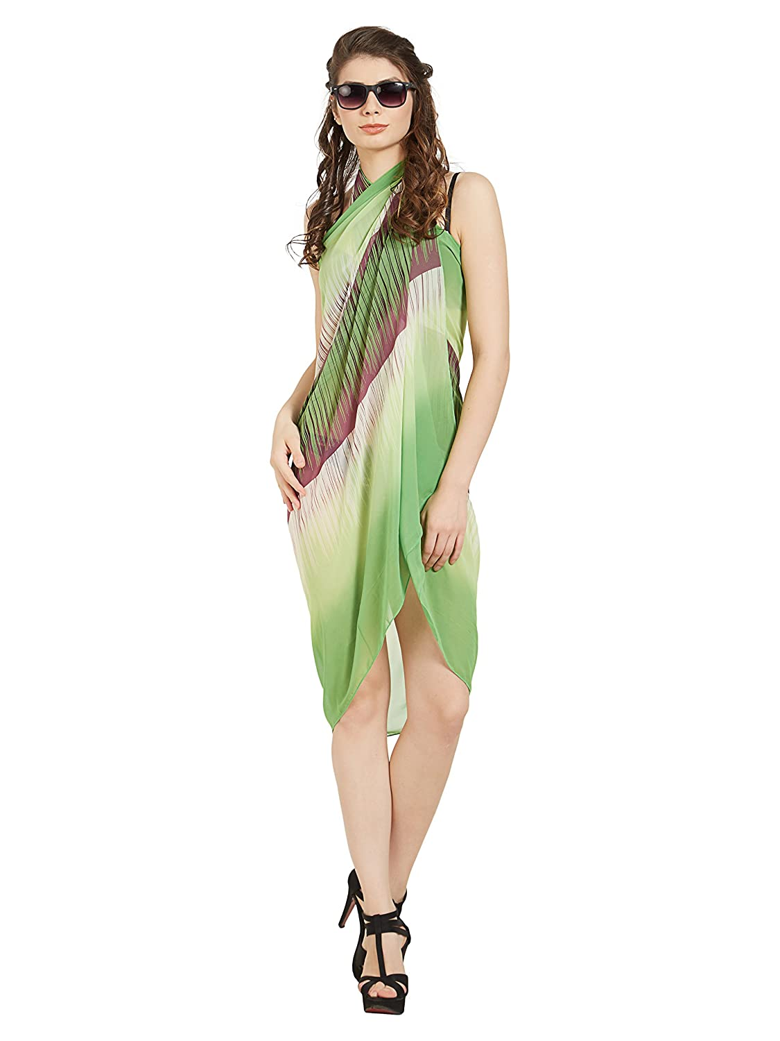 af4c4ad78d ELINA FASHION Sarongs Womens Faux Georgette Printed Sexy Swimsuit Beach  Bath Wrap Cover -up Summer (Style 1) at Amazon Women's Clothing store: