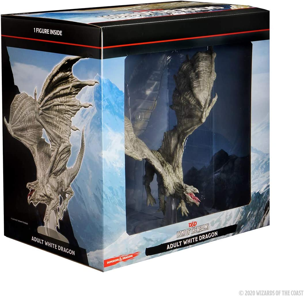 WizKids D&D Icons of The Realms: Adult White Dragon Premium Figure