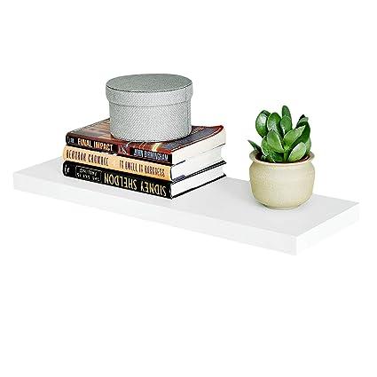 WELLAND Simons Floating Wall Shelf Ledge Shelves 24-Inch White