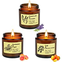 Yinuo Mirror Scented Candles Gift Set, 100% Soy Wax Apothecary Amber Jar Candles, Perfect Women & Men Gifts for Stress…