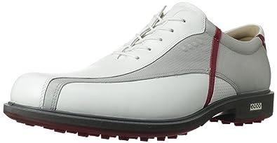 ECCO Tour Hybrid Mens Spikeless Golf Shoes White Concrete Brick Size