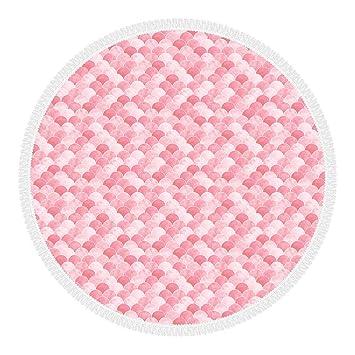 Olli Toalla de Playa, Redonda con Flecos, 100% Microfibra, Made in Italy