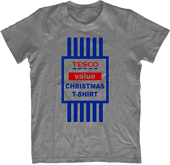 bfc6558c PRINT-BAR Christmas T-Shirt Top Mens Funny T Shirt TESCO Value Printed Tee Xmas  Gift Unisex 2016: Amazon.co.uk: Kitchen & Home