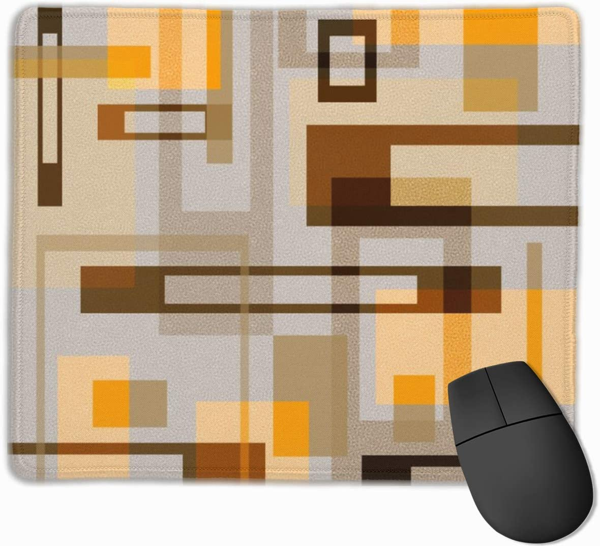 Computer PC and Laptops 9.8 X 11.8 inch Mid Century Modern Blocks on Sand Non-Slip Rubber Mouse Mat Mouse Pad for Desktops