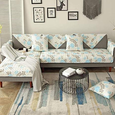 ABUKJM Cubrir Sofa,Cojín de sofá de Tela Europea de algodón ...