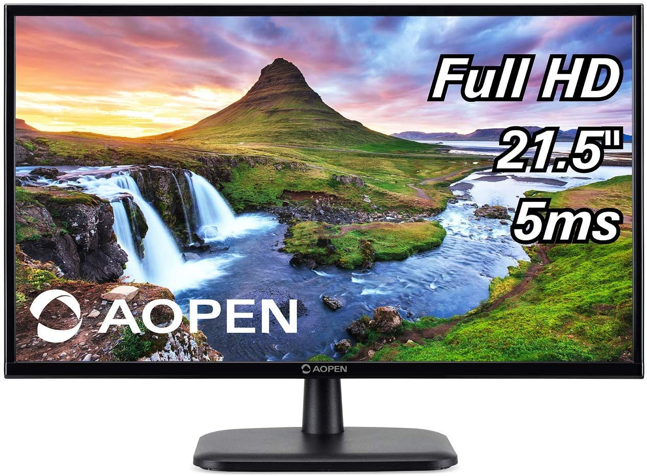 "AOPEN 22CV1Q bi 21.5"" Full HD (1920 x 1080) VA Monitor for Work or Home (1 x HDMI & VGA Port)"