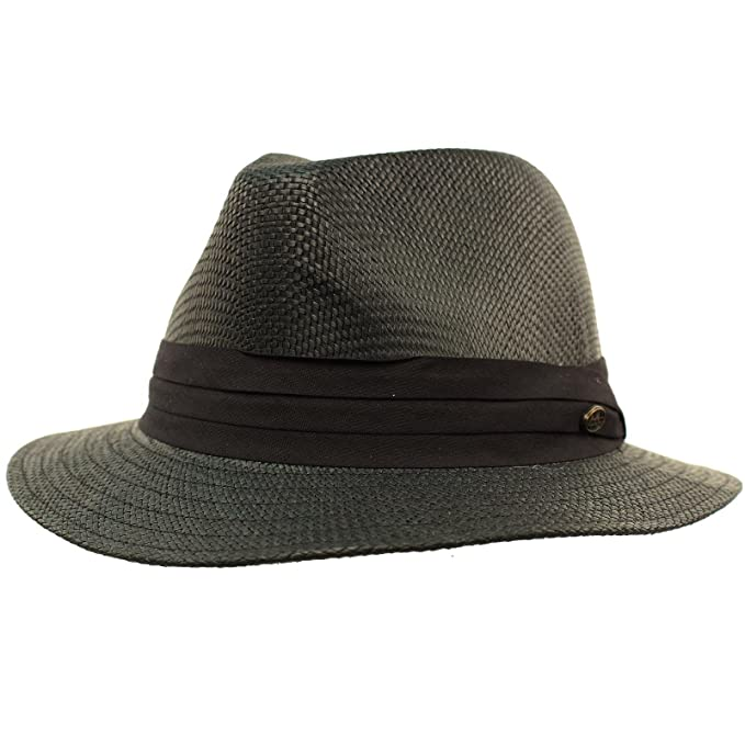 069efc38d5 SK Hat shop Men's Summer Lightweight Short Panama Derby Fedora Flat ...