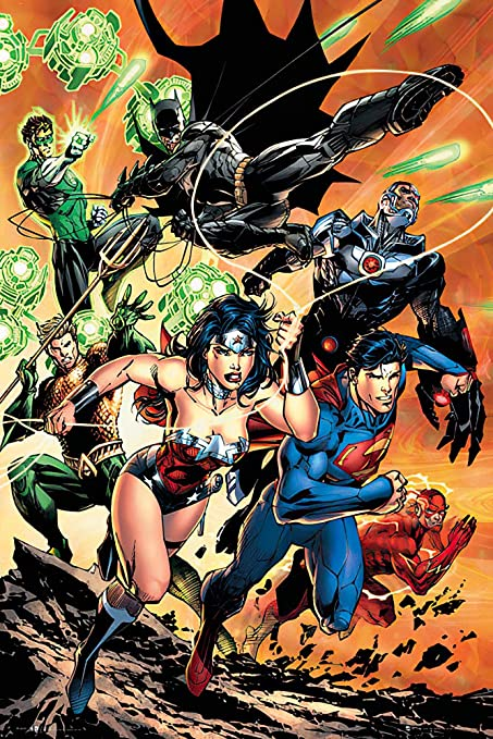 Justice League Attack  Poster (Size 24