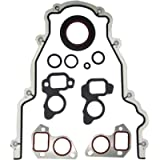 Engine Timing Cover Gasket Set TCS45993, Front Cover Timing Cover Gasket Kit Replacement For GM LS LS1 LS6 LS2 LS3 LQ9…