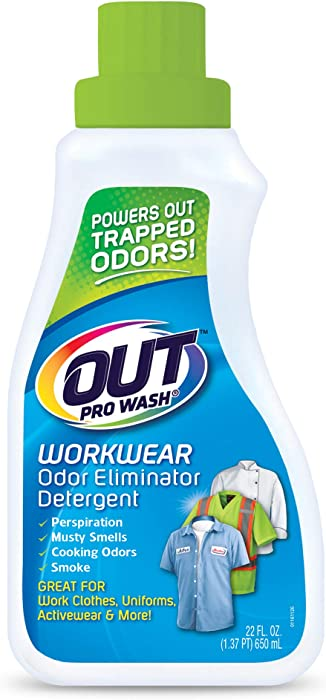 OUT ProWash Workwear Odor Eliminator Detergent, 22 Fl. Oz.