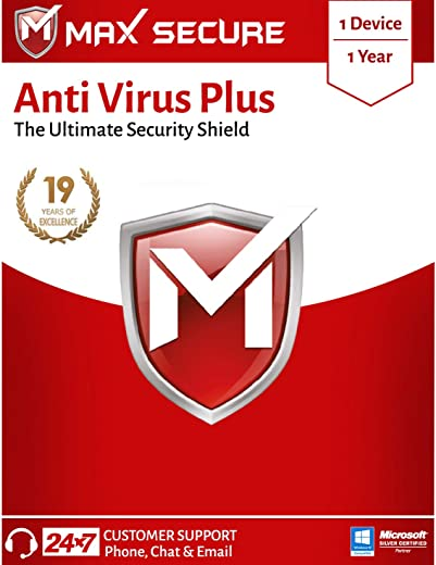 Max Secure Anti-Virus Plus with Ransomware Protection ( Windows ) - 1 PC 1 Year (Email Delivery in 2 Hours - No CD) 1
