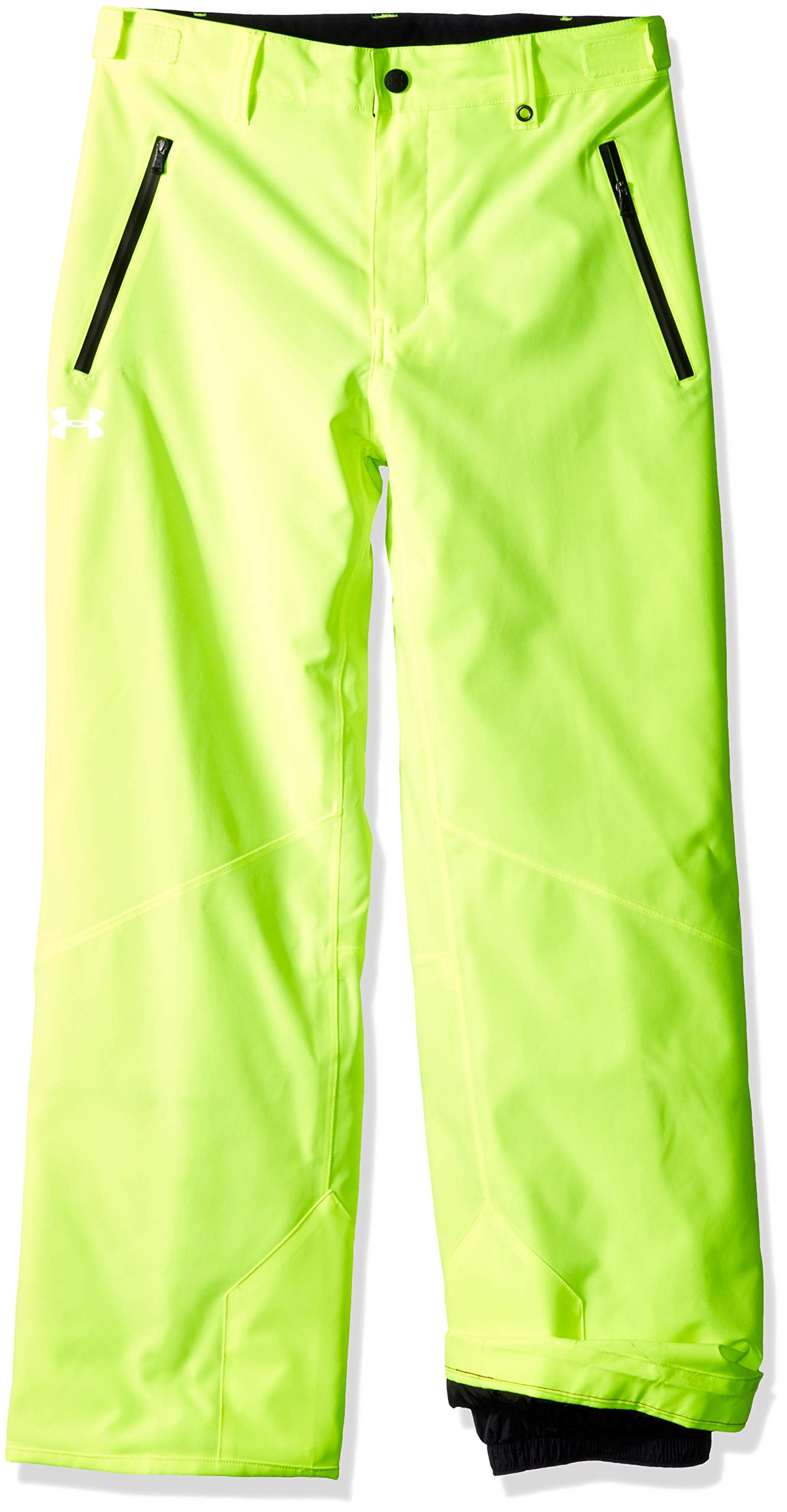 Under Armour Boys' Big Rooter Insulated Pant, hi gh/vis Yellow, Small (8) by Under Armour
