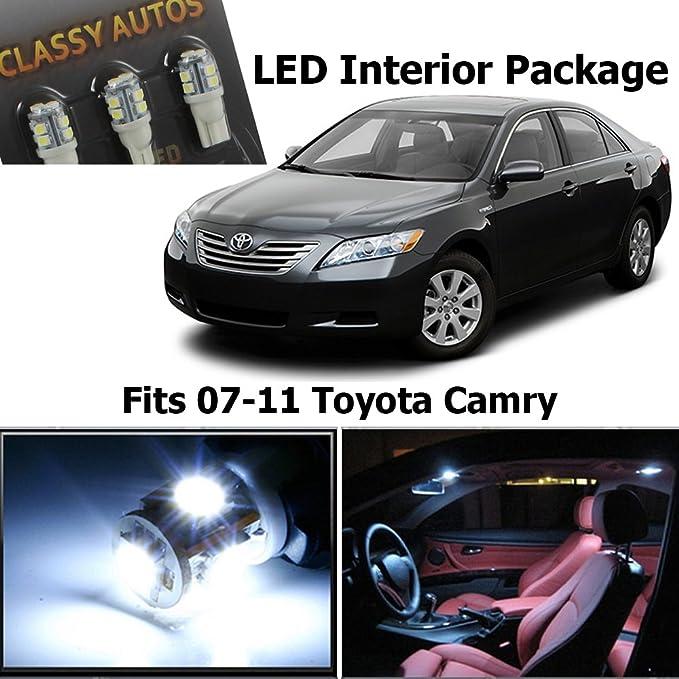Amazon.com: Classy Autos Toyota Camry White Interior LED Package (6 Pieces): Automotive